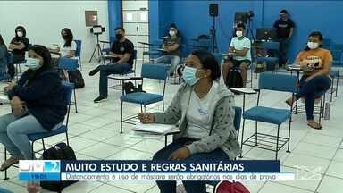 Aplicação da prova do Enem terá novas regras - Será obrigatório o uso de máscaras e distanciamento social.