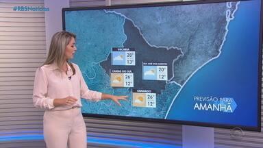 Quinta (14) deve ter sol em quase todo RS; há chances de chuva na Serra e Região Norte - Assista ao vídeo.