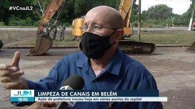 Prefeitura realiza ação para limpeza de canais - Prefeitura realiza ação para limpeza de canais