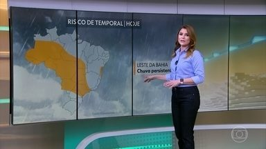 Veja os destaques da previsão do tempo - Temporais se espalham por várias regiões até o fim de semana, pelo menos.