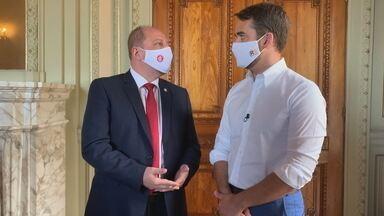 Direção do Inter faz reunião com Governador e oferece espaços para vacinação no RS - Assista ao vídeo.