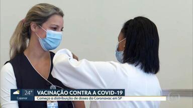 Começa vacinação contra coronavírus nos profissionais de saúde do Hospital das Clínicas - Os profissionais são ligados ao Hospital das Clínicas.
