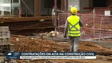 Construção civil vive alta nas contratações e vagas de emprego devem crescer em 2021 - Preocupação do Sindicato dos Trabalhadores da Construção Civil é com a falta de qualificação da mão de obra.