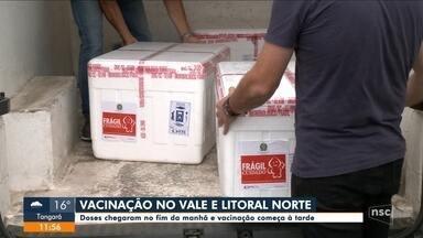 Vacinas chegam nesta terça-feira no Vale do Itajaí e Litoral Norte - Vacinas chegam nesta terça-feira no Vale do Itajaí e Litoral Norte