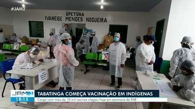 Tabatinga começa vacinação em indígenas - Carga com mais de 10 mil vacinas chegou hoje em aeronaves da FAB
