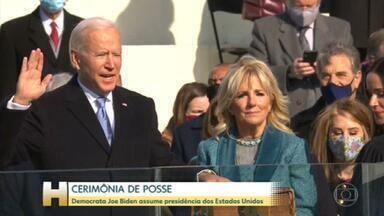 Joe Biden toma posse como 46º presidente dos Estados Unidos - Democrata assume a presidência dos EUA em cerimônia no Capitólio com forte esquema de segurança e sem a presença de Trump.
