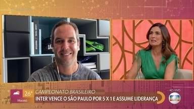 """Caio Ribeiro comenta a rodada do Campeonato Brasileiro no """"Encontro com a Bola"""" - A 31ª rodada foi marcada pela vitória do Inter por 5x1 sobre o São Paulo e o time gaúcho assume a liderança do Brasileirão"""