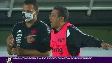 Bragantino goleia e Vasco pode voltar à zona de rebaixamento - Bragantino goleia e Vasco pode voltar à zona de rebaixamento