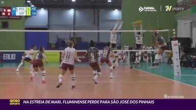 Na estreia de Mari, Fluminense perde para São José dos Pinhais - Na estreia de Mari, Fluminense perde para São José dos Pinhais