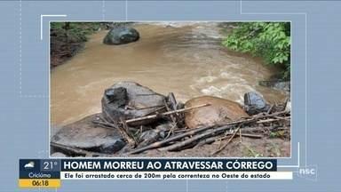 Chuva em SC: indígena morre após ser arrastado pela água no Oeste - Chuva em SC: indígena morre após ser arrastado pela água no Oeste