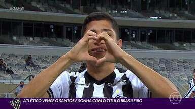 Galo vence o Santos e continua na briga pelo título do Brasileirão - Galo vence o Santos e continua na briga pelo título do Brasileirão