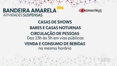 Após 61 dias, Curitiba volta à bandeira amarela e libera boa parte dos serviços - Shoppings, mercados e outros comércios podem abrir aos domingos.
