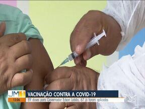 Em Governador Edson Lobão, primeira etapa da vacinação contra a Covid está sendo concluida - 89 doses para Governador Edson Lobão, 67 já foram aplicadas.