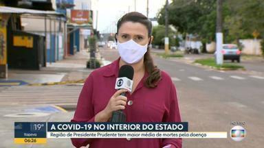 Região de Presidente Prudente, no interior de SP, registrou maior média de mortes pela Covid-19 desde o início da pandemia - Em janeiro, foram registradas mais de 700 mortes pela Covid-19.