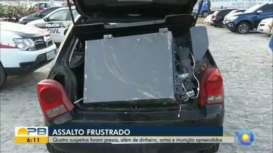 Roubo a cofre de posto é frustrado pela Polícia, em João Pessoa - Quatro suspeitos foram presos em flagrante