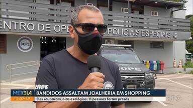 Joalheria do Pátio Batel, em Curitiba, é assaltada - Onze homens foram presos em São Paulo.