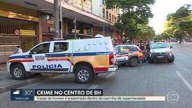 Corpo é encontrado dentro de carrinho de supermercado, no Centro de Belo Horizonte - De acordo com a Polícia Militar (PM), o Serviço de Atendimento Móvel de Urgência (Samu) foi chamado e constatou a morte.