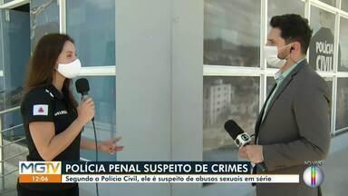 Delegada apresenta informações sobre policial penal investigado por estupros em série - Crimes foram cometidos em Montes Claros.