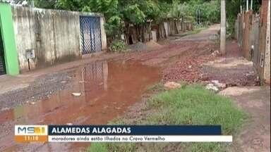Moradores ainda estão ilhados no Cravo Vermelho - Várias alamedas e ruas do bairro estão com muita lama