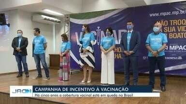 Ministério Público do Acre lança campanha de vacinação para incentivar imunização - Ministério Público do Acre lança campanha de vacinação para incentivar imunização