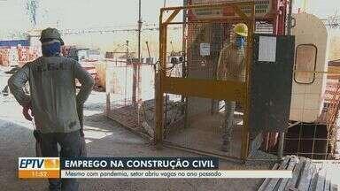 Setor de construção civil abre vagas durante a pandemia na região de Ribeirão - Em 2020, o setor fica atrás somente da indústria.