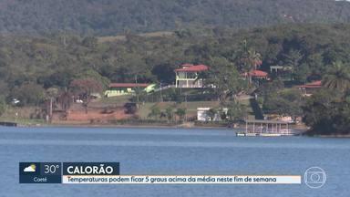 Tem alerta de calor para parte de Minas Gerais neste fim de semana - Temperaturas podem ficar 5 graus acima da média, na capital e cidades da região metropolitana.