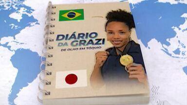Diário da Grazi #3: pugilista mogiana mostra rotina com a seleção brasileira de boxe - A boxeadora Graziele de Jesus, que se prepara para tentar uma vaga na Olimpíada de Tóquio tem treinos mais intensos na terceira semana de preparação para a seletiva final.