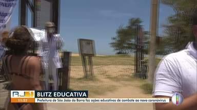 São João da Barra tem 'blitz educativa' como ação de combate à Covid-19 - Barreira é montada em via municipal e visitantes terão temperatura aferida e receberá orientações sobre prevenção.