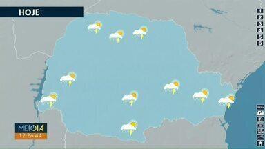 Tem previsão de pancadas de chuva na região oeste ao longo deste sábado (30) - O domingo deve ser de muita chuva, em Cascavel.