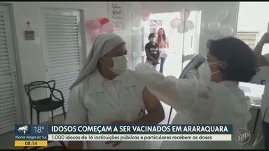Araraquara inicia a vacinação de idosos abrigados em casas de repouso - Foram cerca de 1000 idosos vacinados de 16 instituições públicas e privadas.