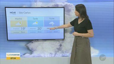 Veja a previsão do tempo para as regiões de Campinas, Ribeirão e Central do estado - Calorão continua e pode haver chuvas isoladas no final da tarde.