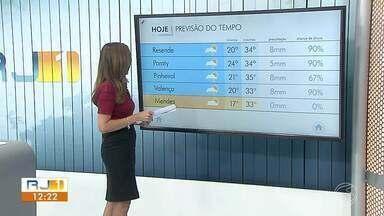 Segunda-feira será quente e com chances de temporal no fim da tarde - Confira como ficam as mínimas e máximas em cinco cidades da região.