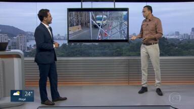 Edimilson Ávila comenta proteção de encostas no Rio - Avenida Niemeyer está com pare e siga.