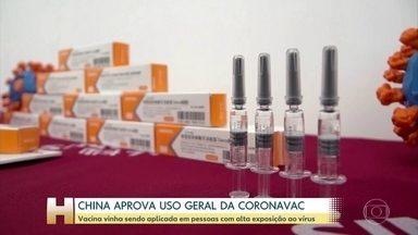 China aprova uso geral da Coronovac - Vacina já vinha sendo usada em pessoas com alto risco de exposição ao coronavírus