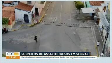 Videmonitoramento ajuda a prender homens suspeitos de assalto em Sobral - Saiba mais em: g1.com.br/ce