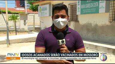 Idosos acamados serão vacinados em Mossoró - Idosos acamados serão vacinados em Mossoró