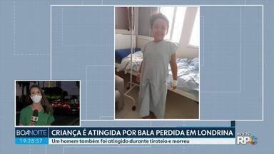 Criança é atingida por bala perdida em Londrina - Um homem também foi atingido durante tiroteio e morreu
