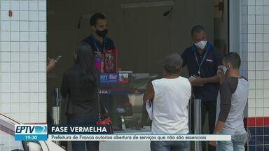 Em fase vermelha, Prefeitura de Franca autoriza abertura de serviços não essenciais - Após permanência na fase mais severa do Plano São Paulo, decreto relaxa medidas de restrições.