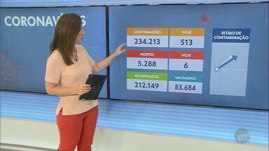 Regiões de Campinas e Piracicaba chegam a 234.213 casos confirmados da Covid-19 - O total de mortes causadas pelo novo coronavírus é de 5.288 neste sábado (6).