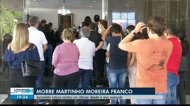Corpo do jornalista Martinho Franco é enterrado, em João Pessoa - Ele lutava contra um câncer, mas não resistiu e morreu