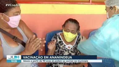 Idosos acima de 90 anos começam a ser vacinados em Ananindeua - Idosos acima de 90 anos começam a ser vacinados em Ananindeua
