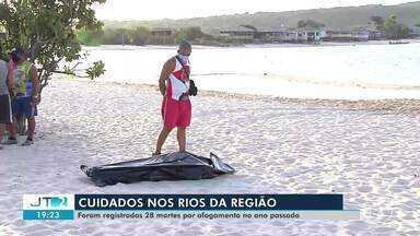 Em 2020, 28 casos de afogamentos foram registrados em Santarém - Samu alerta para cuidados em banhos de praias e piscinas.