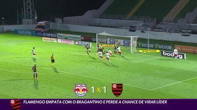 Flamengo empata com Bragantino e perde a chance de virar líder do Brasileirão - Flamengo empata com Bragantino e perde a chance de virar líder do Brasileirão