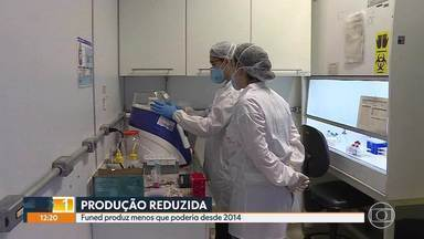Fundação Ezequiel Dias produz muito menos que poderia, desde 2004 - Fundação do Governo de Minas, especialista na fabricação de vacinas e soros e medicamentos, tem a produção reduzida e projetos engavetados.