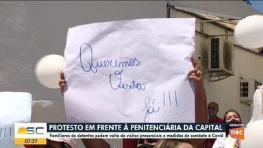 Familiares de detentos em SC pedem volta de visitas presenciais - Familiares de detentos em SC pedem volta de visitas presenciais