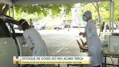 Prefeitura do Rio diz que estoque de vacinas termina na terça-feira - Segundo secretário de saúde, ainda não há uma data definida para recebimento de mais doses