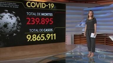 Brasil registra 239.895 mortes causadas pela Covid-19 - Veja os números atualizados da pandemia no Brasil, segundo o consórcio de veículos de imprensa.