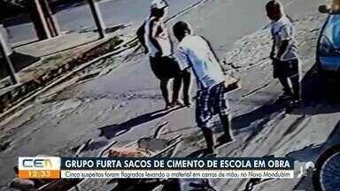 Câmeras flagram bandidos roubando material de construção de escola - Saiba mais em g1.com.br/ce