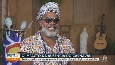 Saudade: Músicos baianos comentam impacto com a suspensão do carnaval neste ano de 2021 - Por causa da Covid-19, festa momesca não aconteceu.