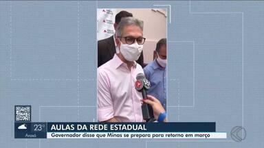 Romeu Zema cumpre agenda em Pará de Minas nesta quarta-feira - Governador de Minas Gerais falou sobre a preparação para a retomada das aulas na rede estadual de ensino